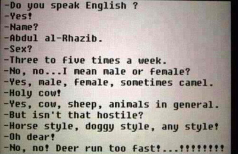 Sex language in english
