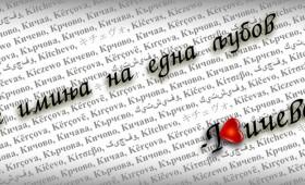 Сите имиња на една љубов – Кичево!