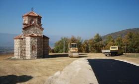 Започна асфалтирањето на патот до манастирот Света Богородица кај Суводол