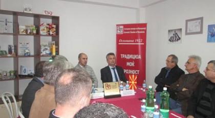Значењето на новите инфраструктурни проекти за Кичево – средба во регионалната Стопанска комора