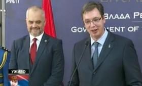Вучиќ и Рама вербално се пресметаа пред камерите поради Косово